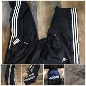 Vintage Adidas Men's Sweatpants Button Sides XL